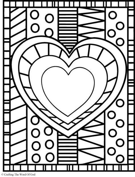 heart pattern color heart coloring page 171 crafting the word of god