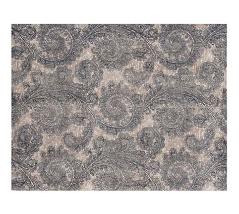 Pottery Barn Blue Rug Ravati Paisley Printed Rug Blue Pottery Barn