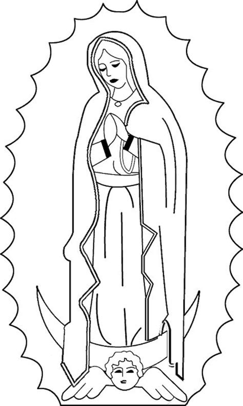 catholic coloring page of our lady of guadalupe feast of