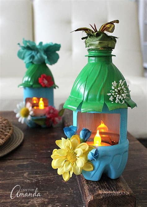 turn empty plastic water bottles  adorable