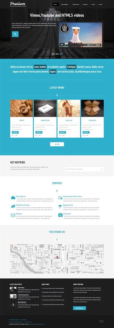 pretium joomla template 4 homepages j1 7 j2 5 j3 0