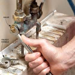 How To Replace Tub Faucet Handles Fix A Leaking Faucet The Family Handyman