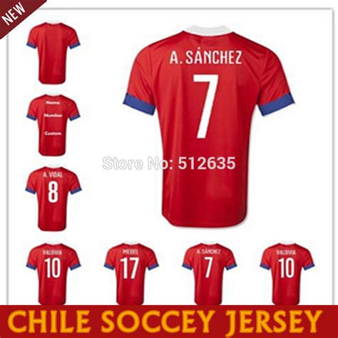 alexis sanchez jersey chile 2016 chile jersey 15 16 conmebol chile home red soccer