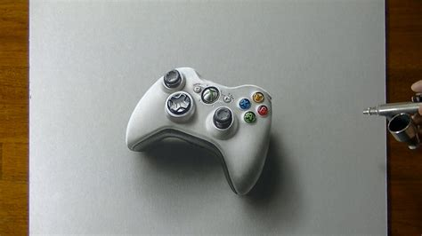 Drawing Xbox Controller by Drawing Time Lapse Xbox 360 Controller Hyperrealistic