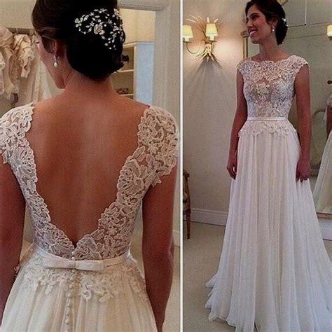 Wedding Dress Lace Back by Vintage Open Back Lace Wedding Dresses Naf Dresses