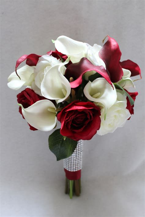 White Wedding Bouquet Flowers by Silk Wedding Flowers And Bouquets Is Blooming