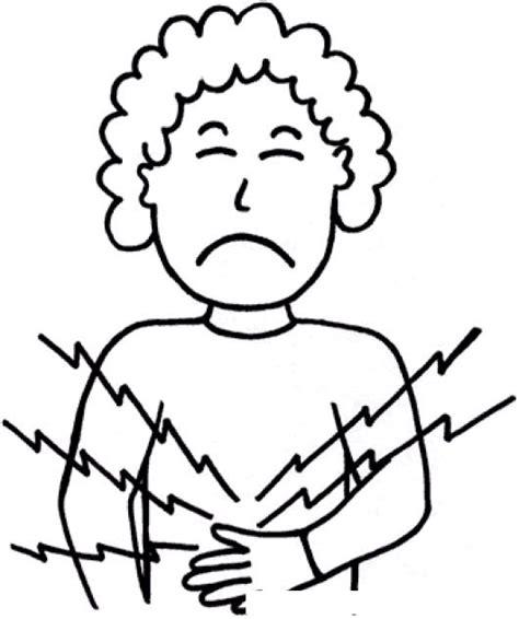 imagenes niños enfermos dibujo estomago trendy nia con vector de dibujos animados