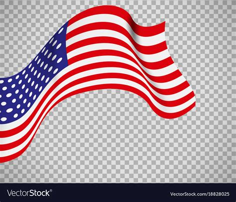 us flag background usa flag on transparent background royalty free vector image