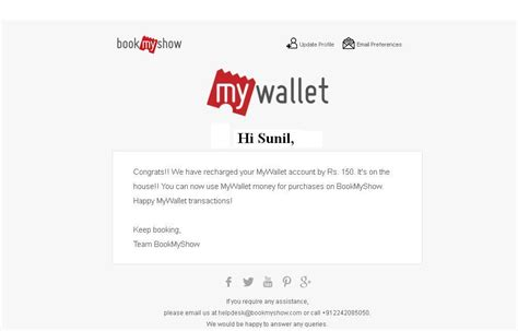 bookmyshow refund bookmyshow mywallet free rs 150 cash new users or rs