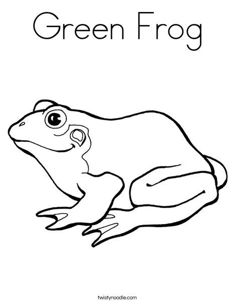 preschool coloring pages color green green frog coloring page twisty noodle
