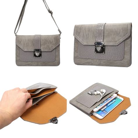 Cel Bag pu leather universal cell phone shoulder wallet bag pouch