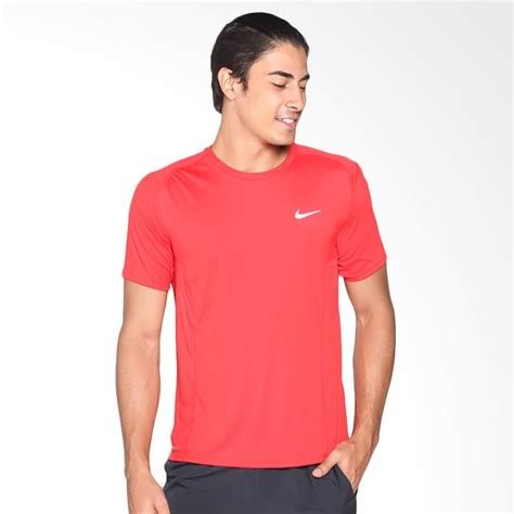 Kaos Nike Logo Merah jual nike as df miler ss kaos olahraga pria merah 683528