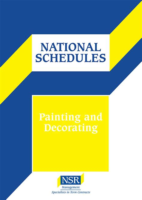 painting decorating national schedule of rates 2016 2017