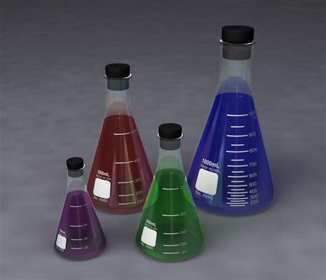 Pyrex Erlenmeyer 1000ml Original erlenmeyer flasks 100ml 3d model