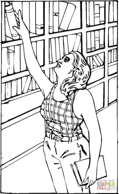 the archives coloring book books reaching for a book in the library coloring page free