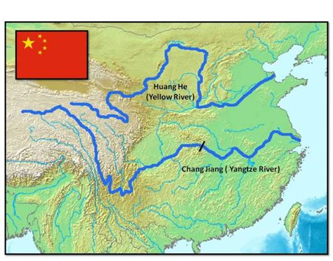 world map rivers huang he huang he and chang jiang yellow and yangtze rivers