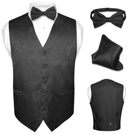 Set Vest Dress s dress vest bow tie hankie set paisley design for