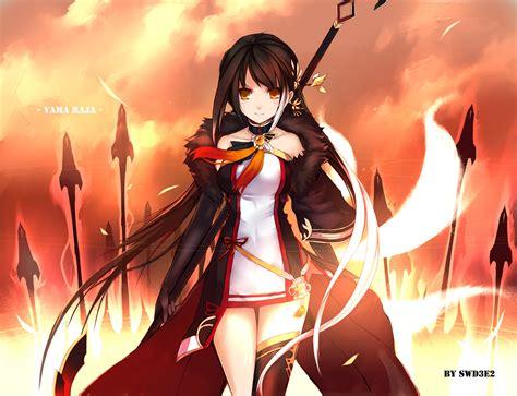 anime girl hero wallpaper konachan com 174260 ara black hair choker dress elsword