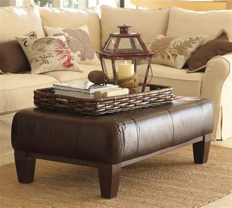 pottery barn leather ottoman coffee table leather ottoman coffee table pottery barn home design ideas