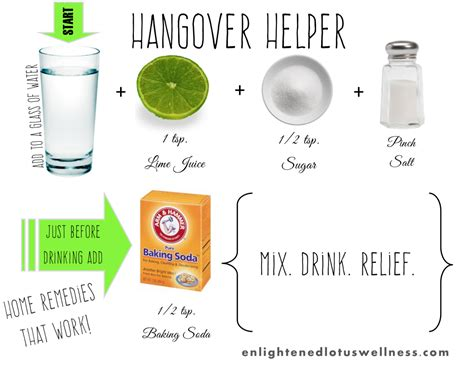 home remedies that work hangover helper
