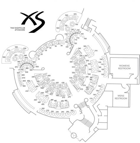 nightclub floor plan xs nightclub bottle service table pricing reservations