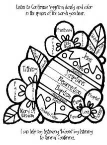 general conference coloring pages easypeasy lds general conference easter activities