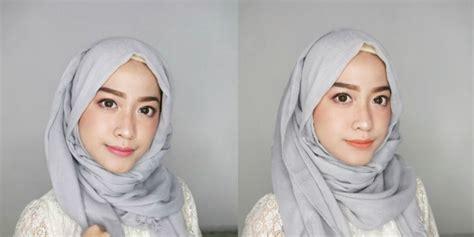 tutorial hijab pesta licin cyndi adissa tutorial hijab bahan polyester adem tak