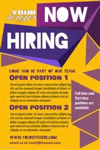 hiring ads templates hiring poster template postermywall