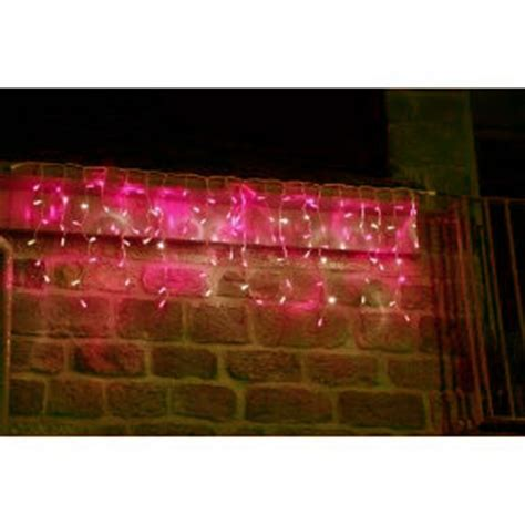 hot pink 14ft icicle lights outdoor