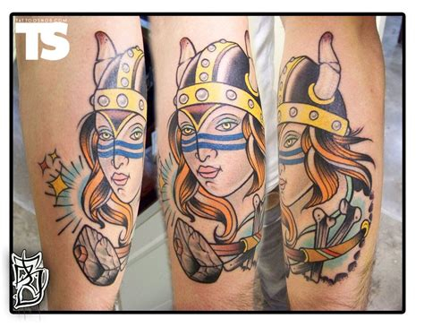 lady tattoo become stylish with amazing viking tattoos
