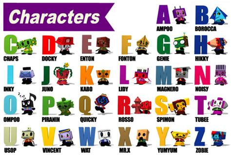 4 Letter Character Names names of characters that start with the letter r