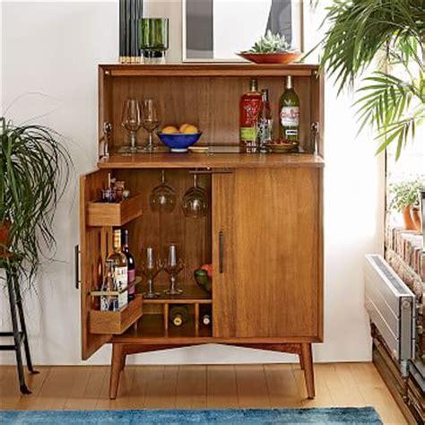 West Elm Living Room Cabinets Mid Century Bar Cabinet Large West Elm