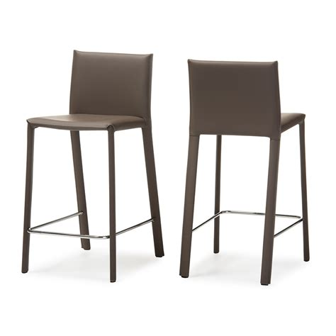 modern counter height bar stools baxton studio crawford modern and contemporary taupe