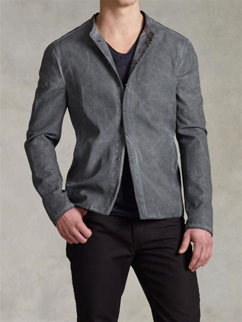 Atasan Jaket varvatos artisan hook bar jacket in gray for