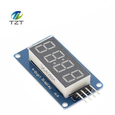 4 Bits Tm1637 Digital Led Display Module With Clock Arduino 1pcs 4 bits digital led display module with clock display tm1637 for arduino raspberry pi