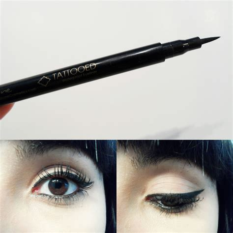 skone tattooed eyeliner ipsy the girl with bangs