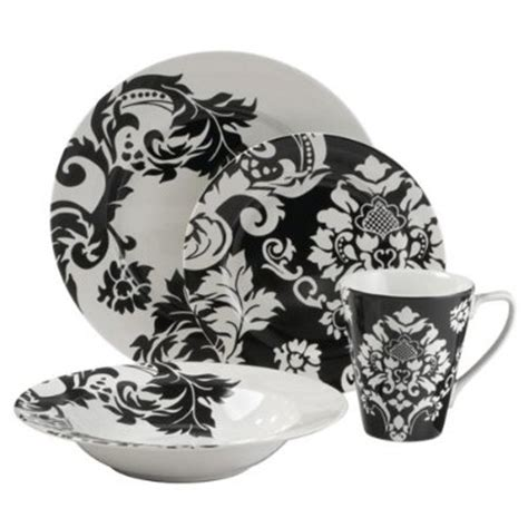 black pattern dinner set gt chic damask patterns for your next event the posh event