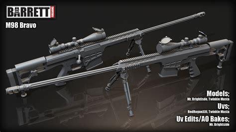 barrett m98b barrett m98b 3d models
