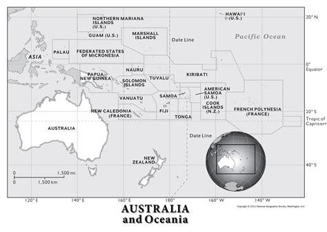 australia  oceania physical geography national
