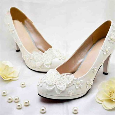 wedding flower shoes cheap flower shoes ivory wedding and bridal inspiration