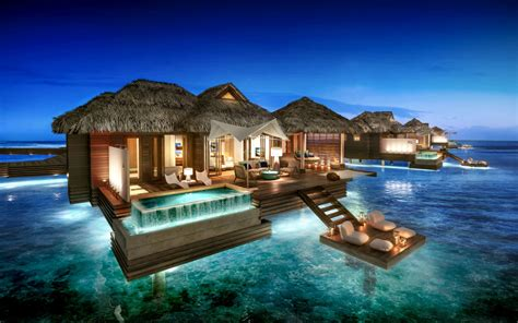 sandals south coast opens booking on overwater bungalows the caribbean s first all inclusive overwater bungalows