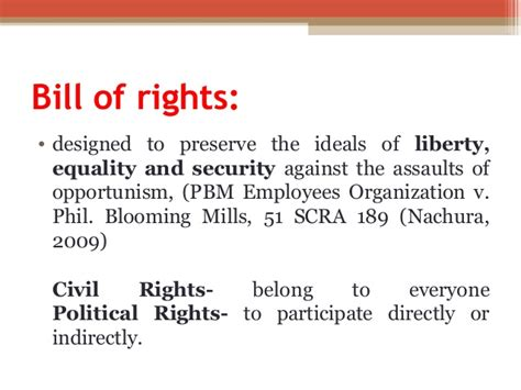bill of rights section 1 to 22 for finals pscn