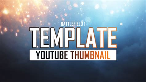 Photoshop Thumbnail Template battlefield 1 deluxe thumbnail template by