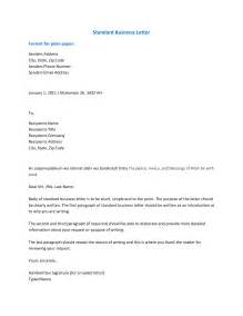 Business Letter Format Email Phone Number Business Letter Format Sles Of Business
