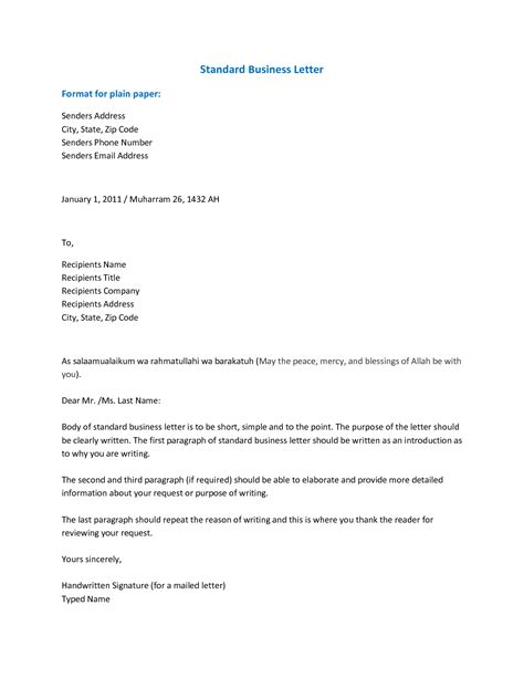 formal letter format example latest captures according cie fresh