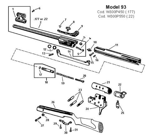 bb gun parts diagram model 93 parts diagram type parts elsavadorla