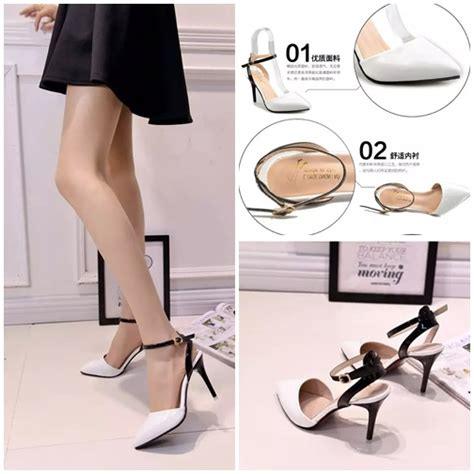 Sepatu High Heels Import 11cm White jual shh889 white sepatu heels cantik 10cm grosirimpor