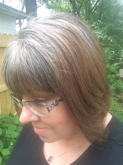 home hair highlight for gray growout pinterest the world s catalog of ideas
