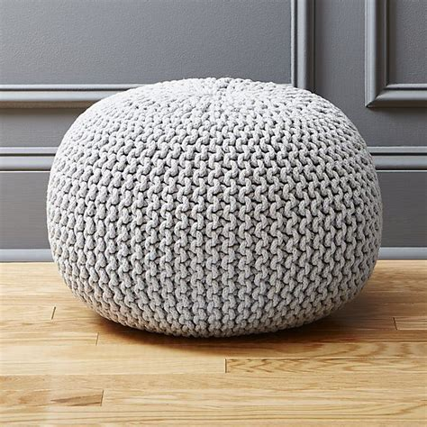 knitted ottomans 25 best ideas about knitted pouf on pinterest knitted