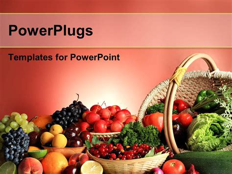 powerpoint templates vegetables free download powerpoint template fresh fruits and vegetables in basket
